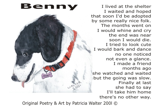 Benny Poetry & Art by Patricia Walter